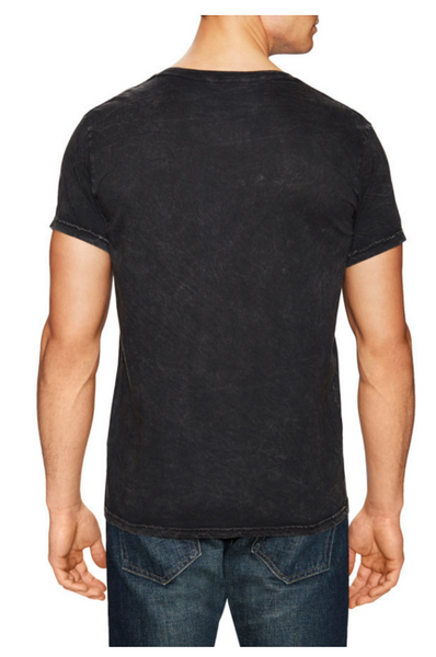 Power Wash V-Neck Tee- Black - ANYBRAND  - 2