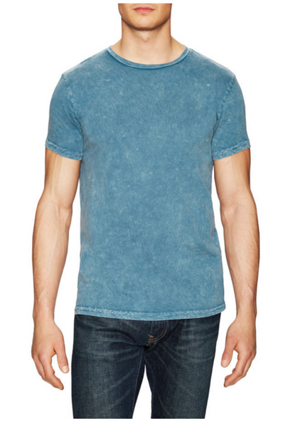 Power Wash Crew neck tee - Mineral Blue - ANYBRAND  - 1