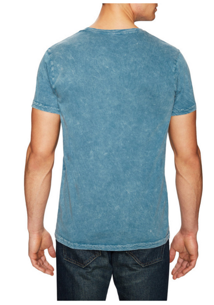 Power Wash Crew neck tee - Mineral Blue - ANYBRAND  - 2