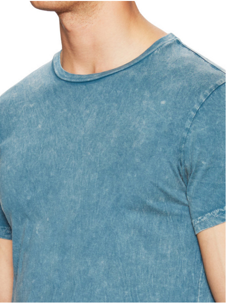 Power Wash Crew neck tee - Mineral Blue - ANYBRAND  - 3