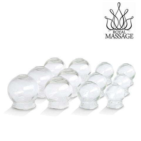 12pc Fire Glass Cupping Jar Set