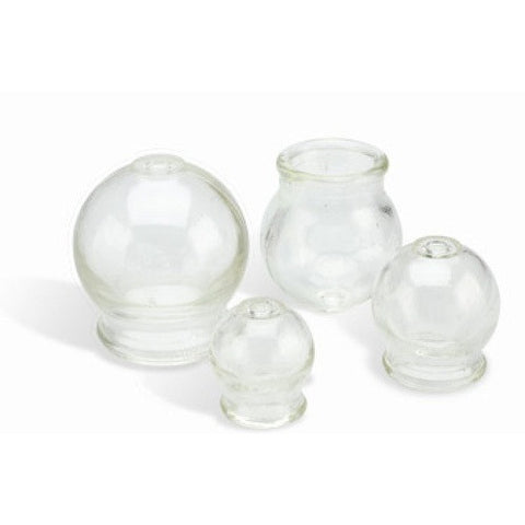 4pc Fire Glass Cupping Jar Set , Massage Accessories - The Salon Product Store, The Salon Product Store  - 1
