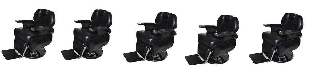Five All Purpose Black Reclining Barber Chairs , Barber Chairs - The Salon Product Store, The Salon Product Store  - 1
