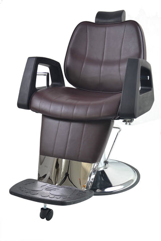 Supreme Hydraulic Reclining Barber Chair Brown, Barber Chairs - The Salon Product Store, The Salon Product Store  - 1