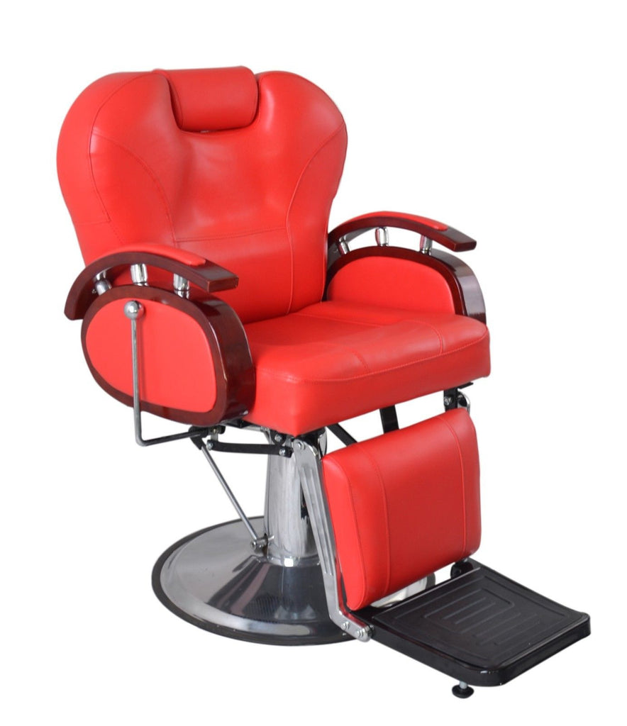 Executive Deluxe Hydraulic Barber Chair Red, All Purpose Chairs - The Salon Product Store, The Salon Product Store  - 1
