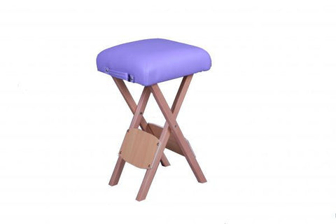 Folding Wooden Massage Stool Purple, Rolling Stools - Best Massage, The Salon Product Store  - 1