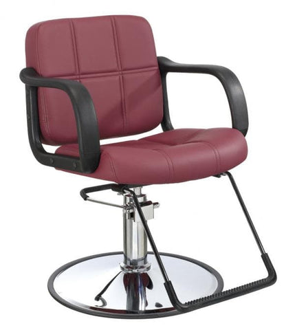 hydraulic styling chair. Hydraulic Styling Chair Burgundy, Salon Chairs - The Product Store,