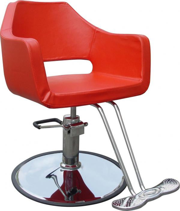 Red Only Contemporary Hydraulic Styling Chair Front
