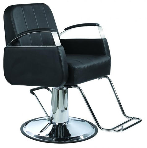 Black styling chair with chrome arms , Salon Chairs - The Salon Product Store, The Salon Product Store