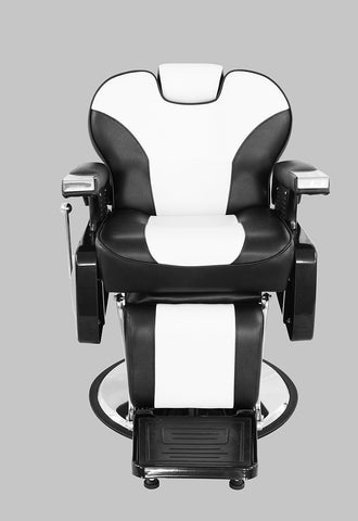 Black & White barber chair front