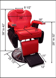 Big Red Reclining Barber Chair , Barber Chairs - The Salon Product Store, The Salon Product Store  - 12
