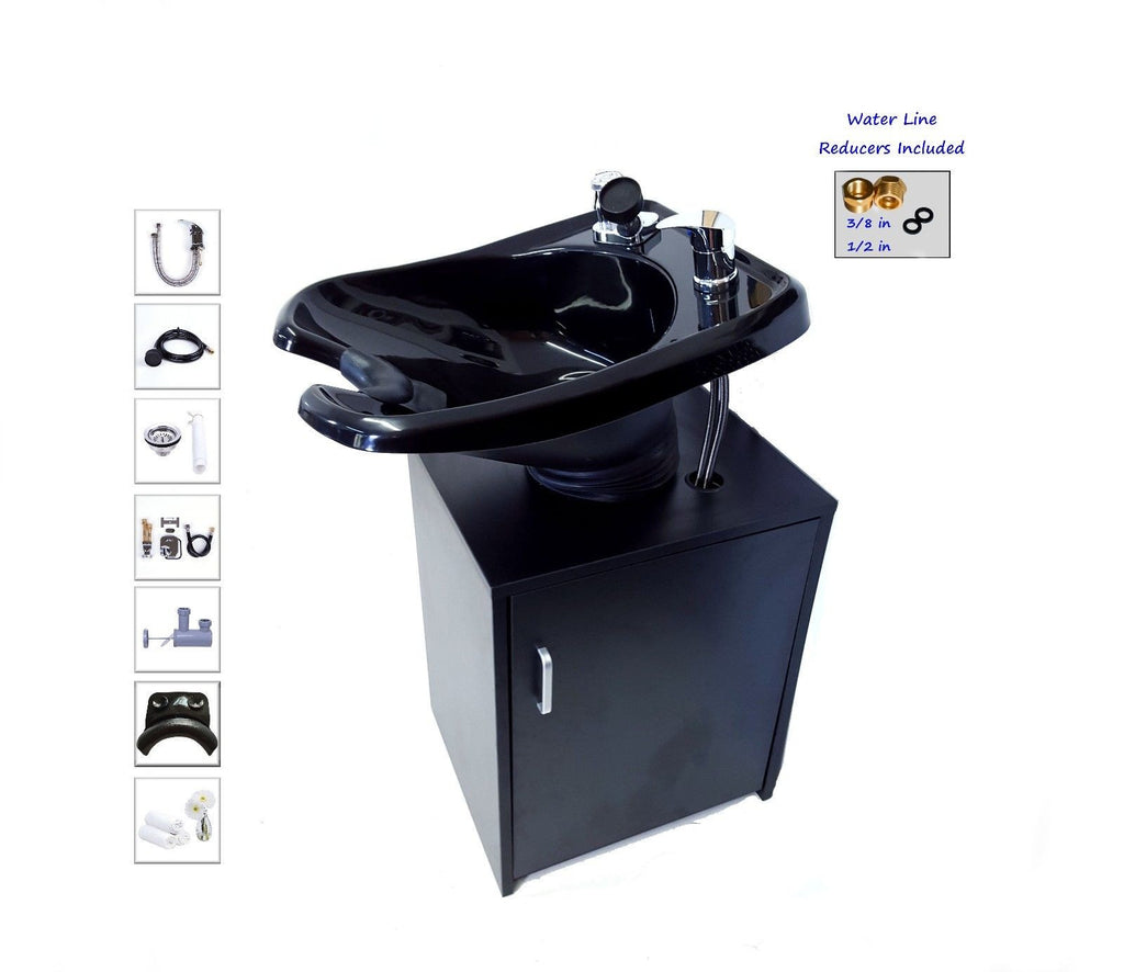 Cabinet Base Backwash with Pedestal Sink , Shampoo Stations - The Salon Product Store, The Salon Product Store  - 1