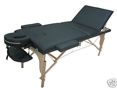 "Portable Massage Table with 3"" Pad + Reiki Lift Black / Black, Massage Table - Best Massage, The Salon Product Store  - 2"