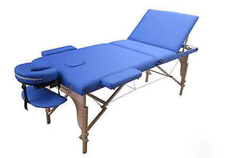 "Portable Massage Table with 3"" Pad + Reiki Lift Blue / Blue, Massage Table - Best Massage, The Salon Product Store  - 1"
