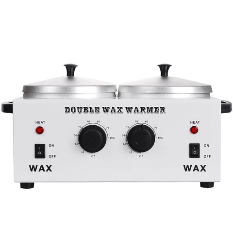 Double Pot Wax Warmer Default Title, Massage Accessories - The Salon Product Store, The Salon Product Store  - 1