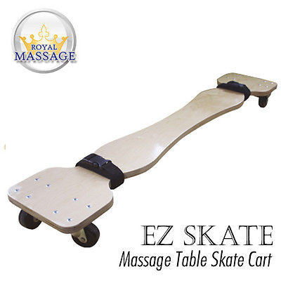 MASSAGE TABLE SKATE CART - SKATEBOARD STYLE CARRIER WITH WHEELS AND STRAPS Default Title, Massage Accessories - Royal Massage, The Salon Product Store