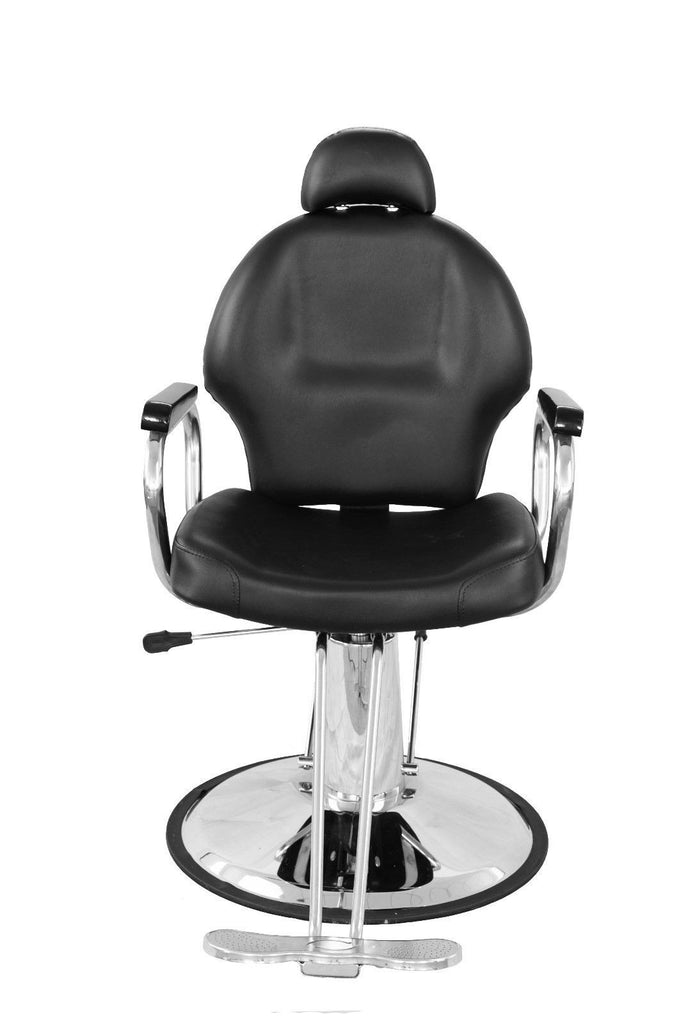 Euro Hydraulic Styling Chair Black, Front View