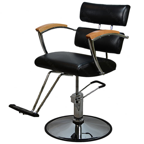 Comtemporary Black chair with Oak , All Purpose Chairs - The Salon Product Store, The Salon Product Store  - 1