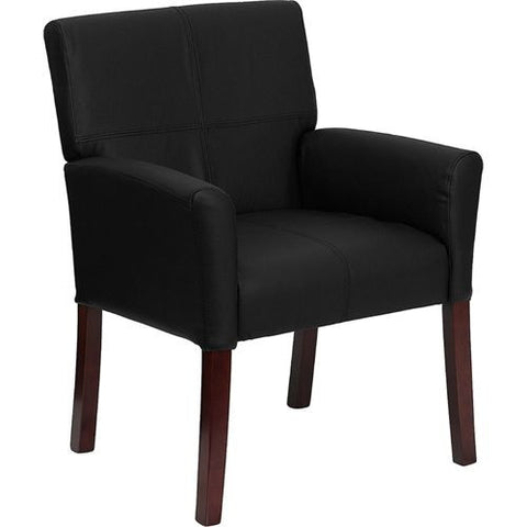 Black Leather Executive Side Chair or Reception Chair , furniture - The Salon Product Store, The Salon Product Store