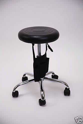 Hydraulic Rolling Stool - Ribbed Seat Chrome Base Black, Rolling Stools - The Salon Product Store, The Salon Product Store  - 2