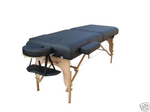 "Portable Massage Table with 4"" Pad Black / Black, Massage Table - Best Massage, The Salon Product Store  - 1"