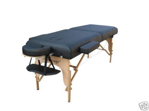 "Massage Table with 3"" High Density Pad Black / Black, Massage Table - Best Massage, The Salon Product Store  - 1"