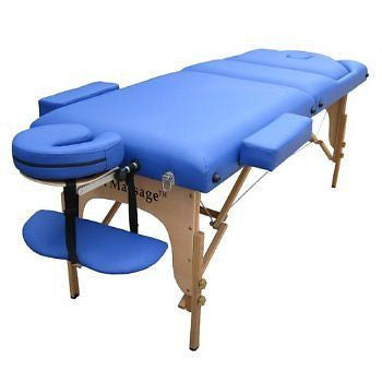"Portable Massage Table with 4"" Pad + Reiki Lift Blue / Black, Massage Table - Best Massage, The Salon Product Store  - 1"
