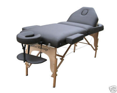 "Portable Massage Table with 3"" Pad + Reiki Lift Black / Black, Massage Table - Best Massage, The Salon Product Store  - 1"