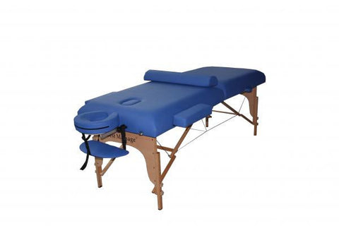 "Portable Massage Table 4"" Pad + 30"" Width + Bolster Pillow Blue / Blue, Massage Table - Best Massage, The Salon Product Store  - 1"