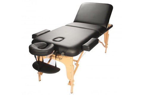 "Reiki 2.5"" Pad Portable Massage Table Black / Black, Massage Table - Best Massage, The Salon Product Store  - 1"