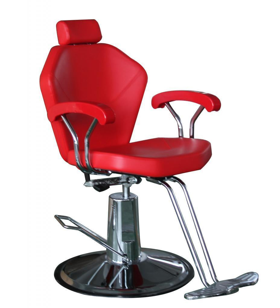 Red Sloped Shoulder Reclining Chair , All Purpose Chairs - The Salon Product Store, The Salon Product Store  - 1