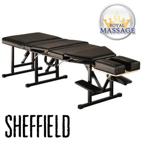 The Sheffield Elite Portable Folding Chiropractor Table Charcoal, Stationary Massage/Therapy Tables - Royal Massage, The Salon Product Store  - 1