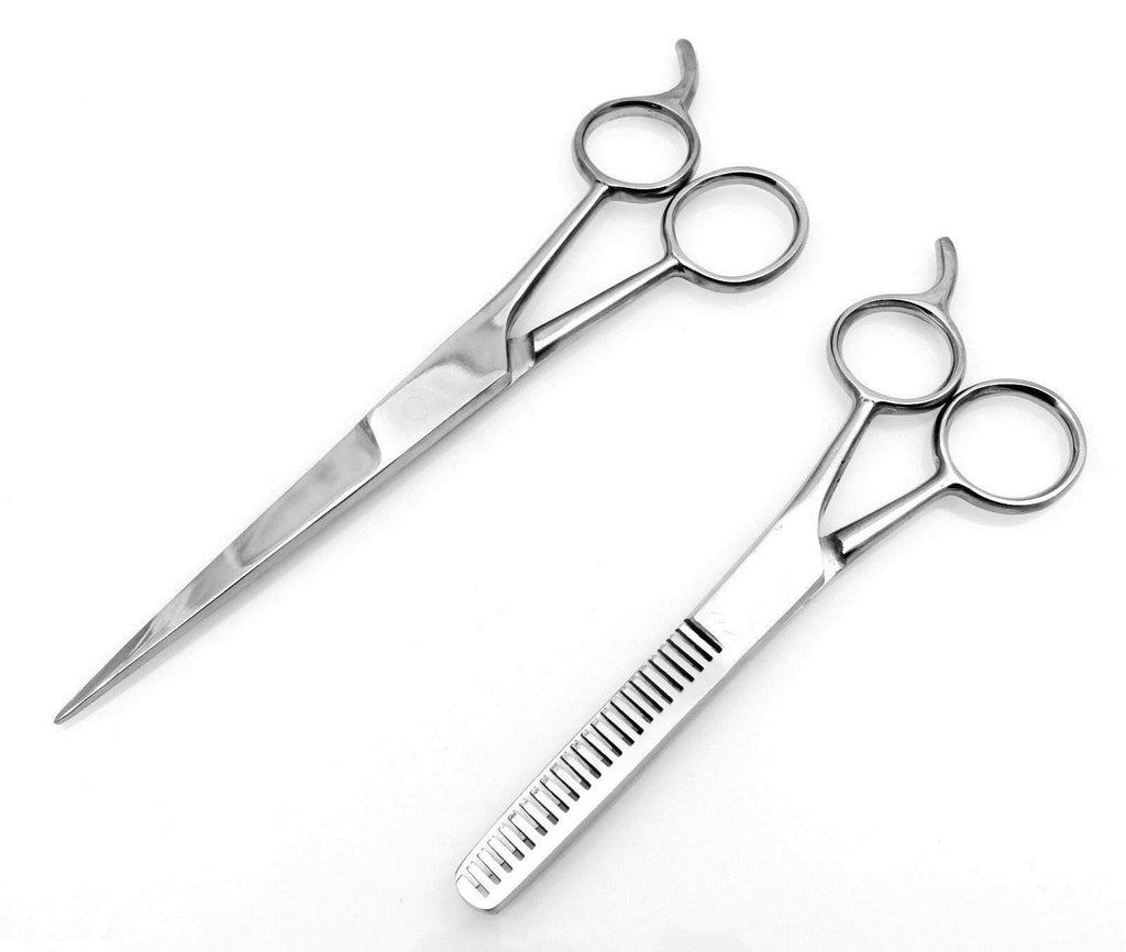 2 pc Set Stainless Steel  Shears & Thinning Scissors
