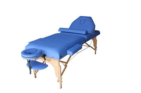 "Portable Massage Table 3"" Pad + 30"" Width + Reiki Lift + Bolster Pillow Blue / Blue, Massage Table - Best Massage, The Salon Product Store  - 1"