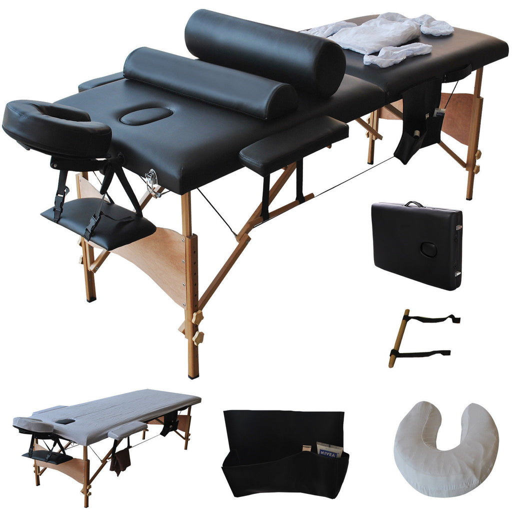 Business Starter Massage Table Package-Includes Sheets Black, Massage Table - Best Massage, The Salon Product Store  - 1