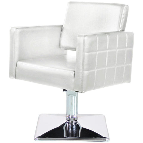 White Square Chair , Salon Chairs - The Salon Product Store, The Salon Product Store  - 1