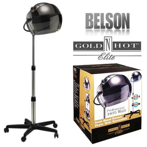 Belson Gold N Hot Ionic Stand Bonnet Tourmaline Hair Dryer & Box
