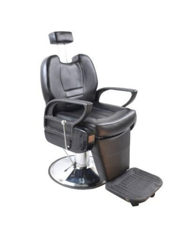 Black Hydraulic Reclining Barber Chair , Barber Chairs - The Salon Product Store, The Salon Product Store  - 1