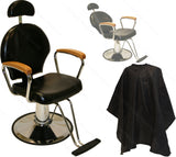 Elegant Oak Arm Reclining Barber Chair , All Purpose Chairs - The Salon Product Store, The Salon Product Store  - 5