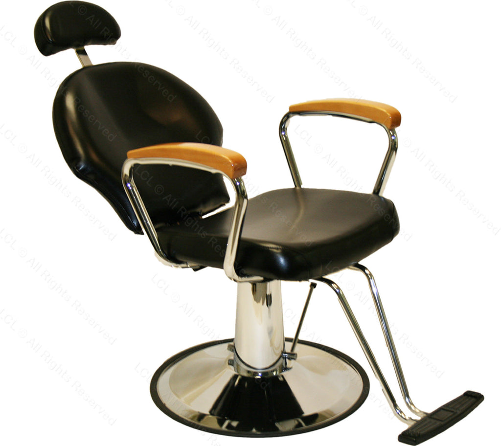Elegant Oak Arm Reclining Barber Chair , All Purpose Chairs - The Salon Product Store, The Salon Product Store  - 1
