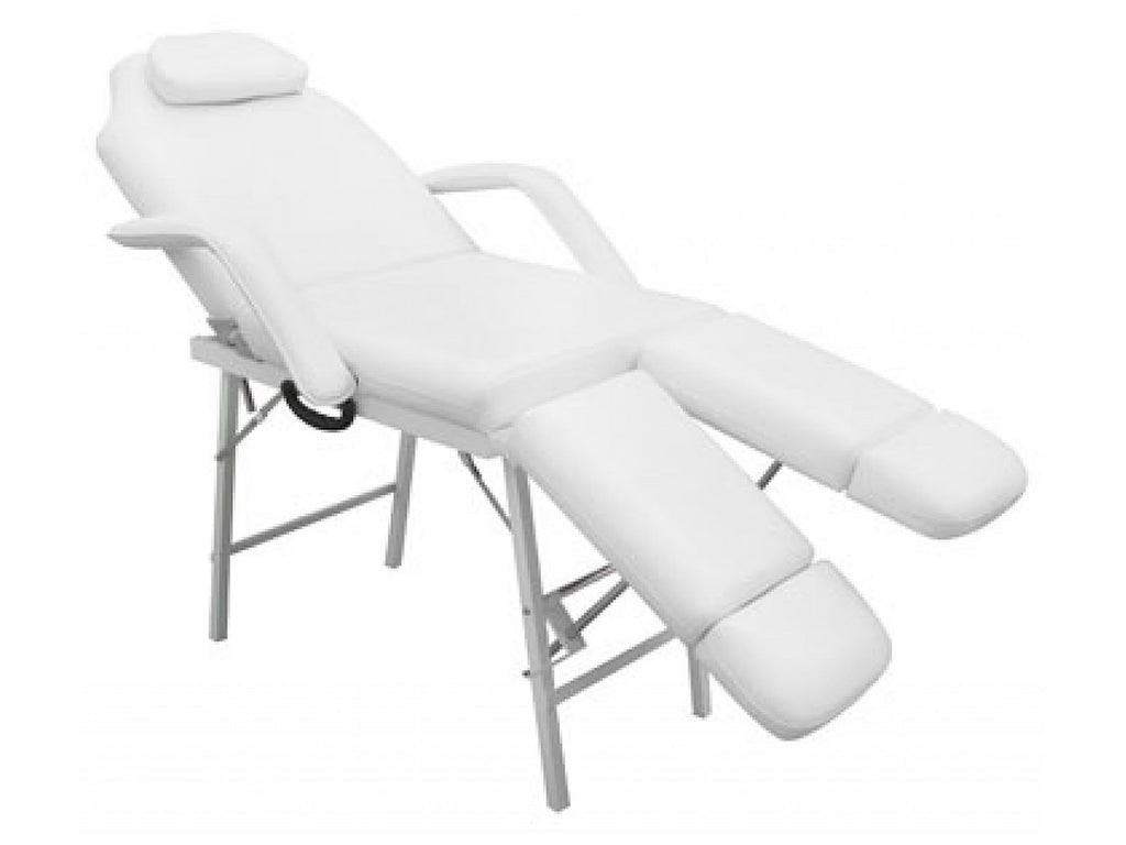 Hidden White Portable Facial/Spa Table w/Adjustable Legs Default Title, Hydraulic Facial/Salon Bed - The Salon Product Store, The Salon Product Store  - 1