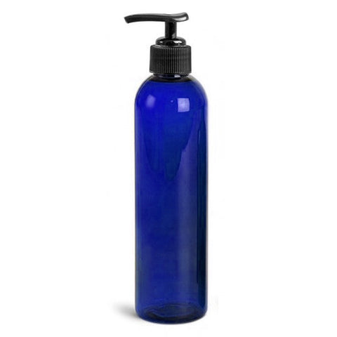 8oz Empty Massage Oil/Lotion Bottle With Pump For Oil Holster Blue, Massage Accessories - The Salon Product Store, The Salon Product Store  - 1