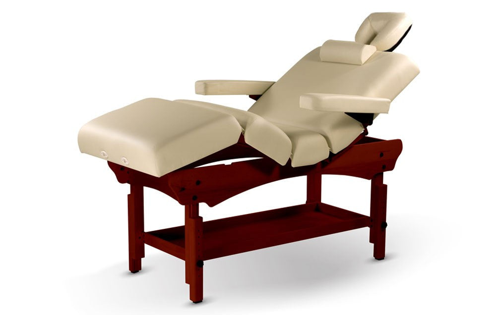 The Versatile Pneumatic Adjustable Stationary Table Cream, Stationary Massage/Therapy Tables - The Salon Product Store, The Salon Product Store  - 1