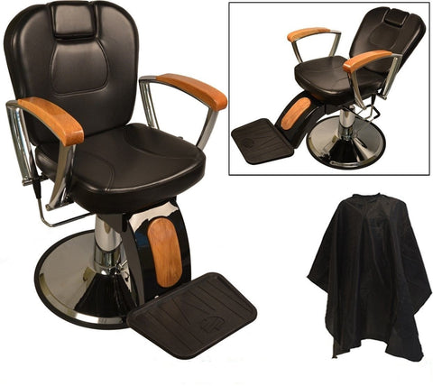 Executive Oak Barber Chair , Barber Chairs - The Salon Product Store, The Salon Product Store