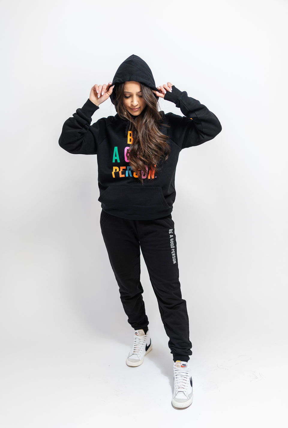Black Color Spectrum Hoodie - Unisex