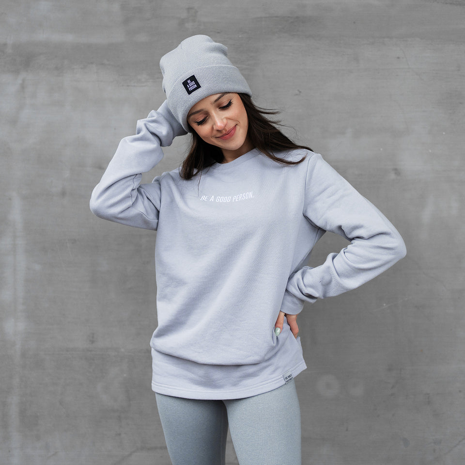 Ash Grey French Terry Long Sleeve Crewneck - Unisex
