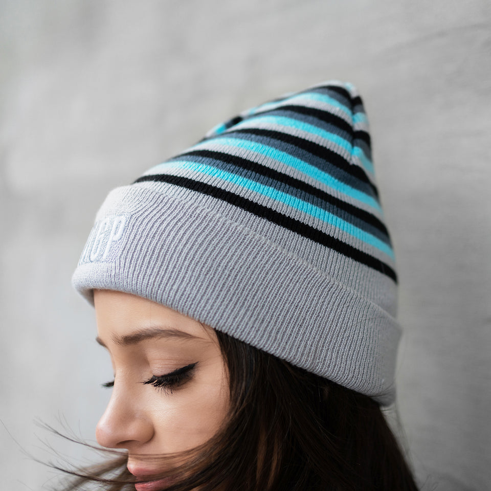 Reversible Patch Beanie - Ash Grey