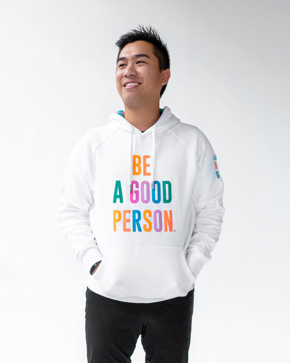 White Color Spectrum Hoodie - Unisex