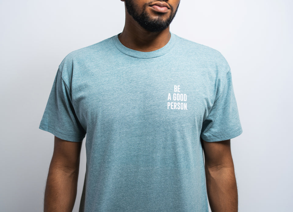 Organic Heather Pacific Mini Logo Shirt - Unisex