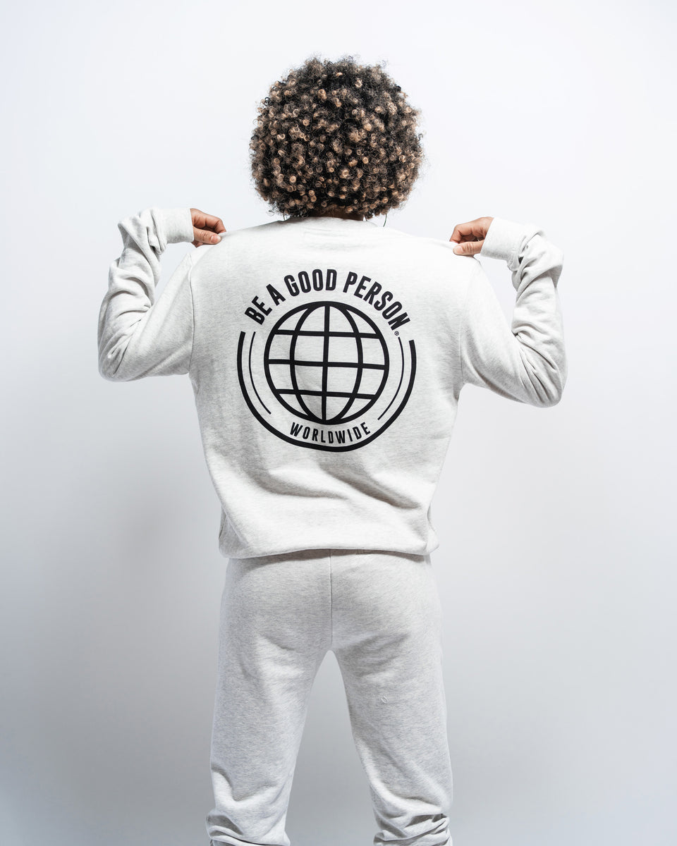 Heather Grey 'Worldwide' Sweatshirt - Unisex
